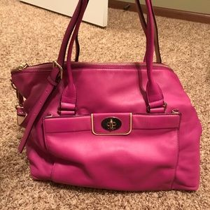 Large leather pink Kate Spade purse